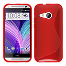 Coque HTC One M8 Mini S-Line Silicone Gel Housse - Rouge