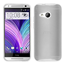 Coque HTC One M8 Mini Silicone Transparent Housse - Blanche