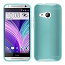 Coque HTC One M8 Mini Silicone Transparent Housse - Bleu