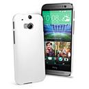 Coque HTC One M8 Plastique Etui Rigide - Blanche