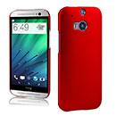 Coque HTC One M8 Plastique Etui Rigide - Rouge
