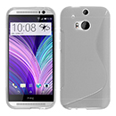 Coque HTC One M8 S-Line Silicone Gel Housse - Blanche