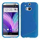 Coque HTC One M8 S-Line Silicone Gel Housse - Bleu