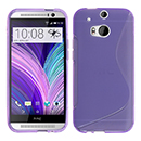 Coque HTC One M8 S-Line Silicone Gel Housse - Pourpre