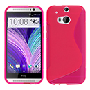 Coque HTC One M8 S-Line Silicone Gel Housse - Rose Chaud