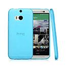 Coque HTC One M8 Silicone Transparent Housse - Bleu