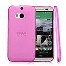 Coque HTC One M8 Silicone Transparent Housse - Rose