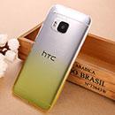 Coque HTC One M9 Degrade Etui Rigide - Jaune