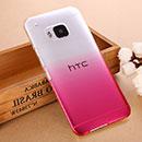 Coque HTC One M9 Degrade Etui Rigide - Rose Chaud