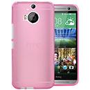 Coque HTC One M9 Plus Silicone Transparent Housse Gel - Rose