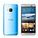 Coque HTC One M9 Silicone Transparent Housse - Bleu