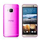 Coque HTC One M9 Silicone Transparent Housse - Rose Chaud