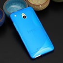Coque HTC One Mini M4 S-Line Silicone Gel Housse - Bleu