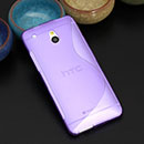 Coque HTC One Mini M4 S-Line Silicone Gel Housse - Pourpre