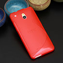 Coque HTC One Mini M4 S-Line Silicone Gel Housse - Rouge