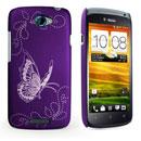 Coque HTC One S Papillon Plastique Etui Rigide - Pourpre