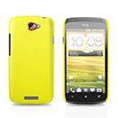 Coque HTC One S Plastique Etui Rigide - Jaune