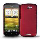 Coque HTC One S Plastique Etui Rigide - Rouge