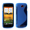 Coque HTC One S S-types Silicone Gel Housse - Bleu