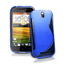 Coque HTC One ST T528t S-Line Silicone Gel Housse - Bleu