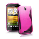 Coque HTC One ST T528t S-Line Silicone Gel Housse - Rose Chaud