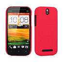Coque HTC One ST T528t Sables Mouvants Etui Rigide - Rouge