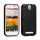 Coque HTC One ST T528t Silicone Gel Housse - Noire