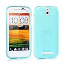 Coque HTC One ST T528t Silicone Transparent Housse - Bleue Ciel