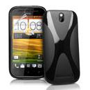 Coque HTC One ST T528t X-Line Silicone Gel Housse - Noire