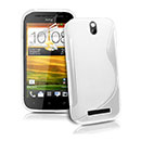 Coque HTC One SV C525e S-Line Silicone Gel Housse - Blanche