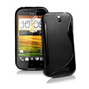 Coque HTC One SV C525e S-Line Silicone Gel Housse - Noire