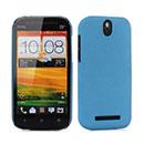 Coque HTC One SV C525e Sables Mouvants Etui Rigide - Bleu