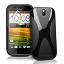 Coque HTC One SV C525e X-Line Silicone Gel Housse - Noire