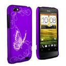 Coque HTC One V Papillon Plastique Etui Rigide - Pourpre