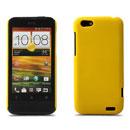 Coque HTC One V Plastique Etui Rigide - Jaune