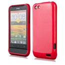 Coque HTC One V Silicone Gel Housse - Rouge
