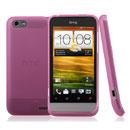 Coque HTC One V Silicone Transparent Housse - Rose