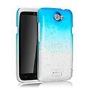 Coque HTC One X Degrade Etui Rigide - Bleue Ciel