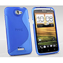 Coque HTC One X S-Line Silicone Gel Housse - Bleue Ciel