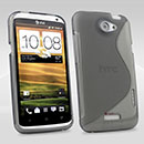 Coque HTC One X S-Line Silicone Gel Housse - Gris
