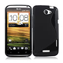 Coque HTC One X S-Line Silicone Gel Housse - Noire