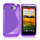 Coque HTC One X S-Line Silicone Gel Housse - Pourpre