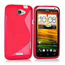 Coque HTC One X S-Line Silicone Gel Housse - Rose Chaud
