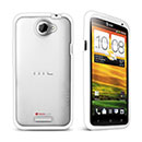 Coque HTC One X Silicone Transparent Housse Gel - Blanche