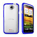 Coque HTC One X Silicone Transparent Housse Gel - Bleu