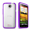 Coque HTC One X Silicone Transparent Housse Gel - Pourpre