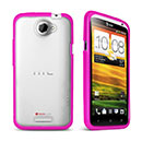 Coque HTC One X Silicone Transparent Housse Gel - Rose Chaud