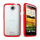 Coque HTC One X Silicone Transparent Housse Gel - Rouge