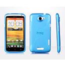 Coque HTC One X X-Line Silicone Gel Housse - Bleue Ciel