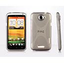 Coque HTC One X X-Line Silicone Gel Housse - Gris